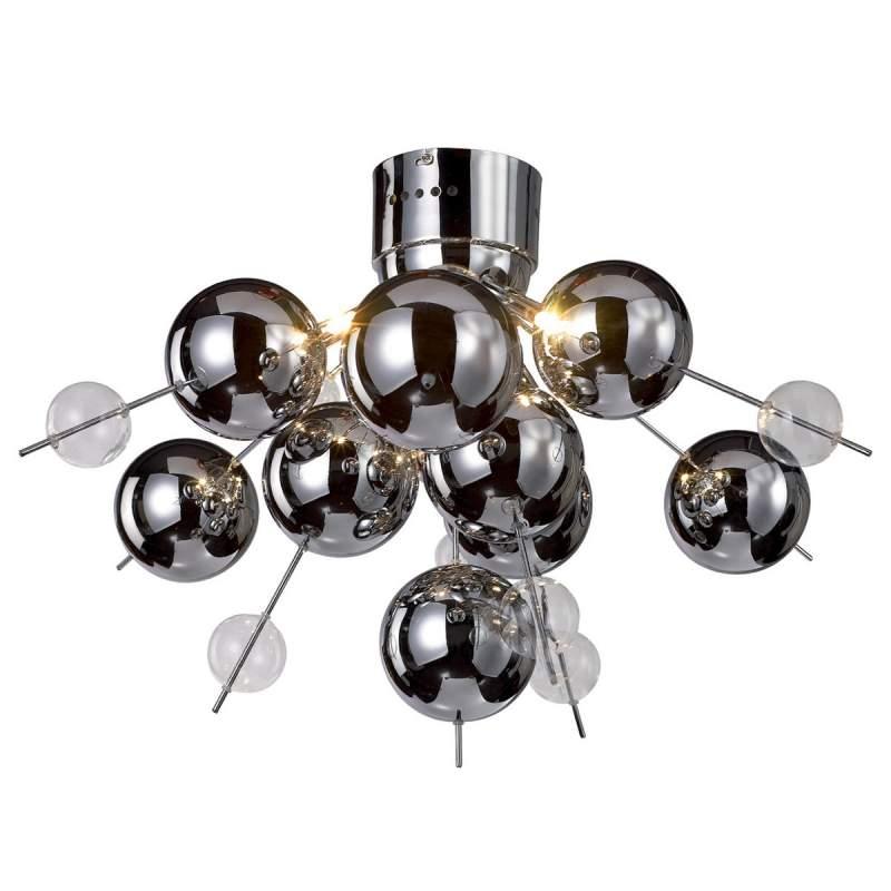 Futuristische plafondlamp WAKUSEI, chroom
