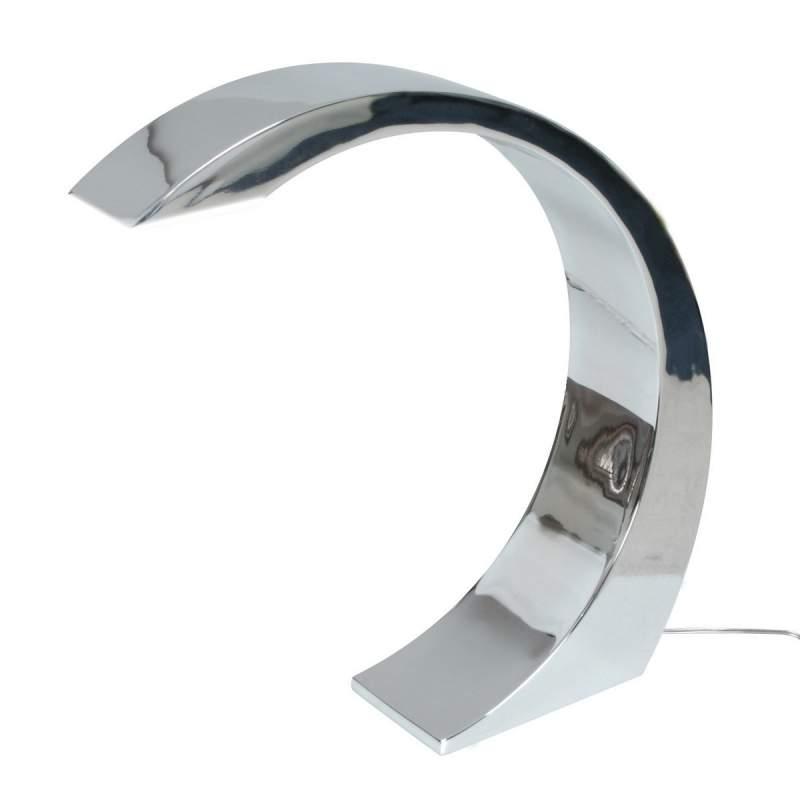 NAMI - moderne LED-tafellamp, 33 cm, chroom
