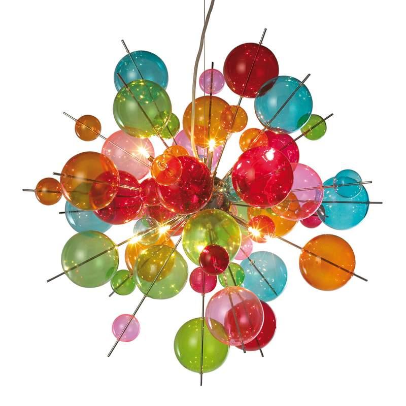 Kleurrijke glazen hanglamp Aurinia
