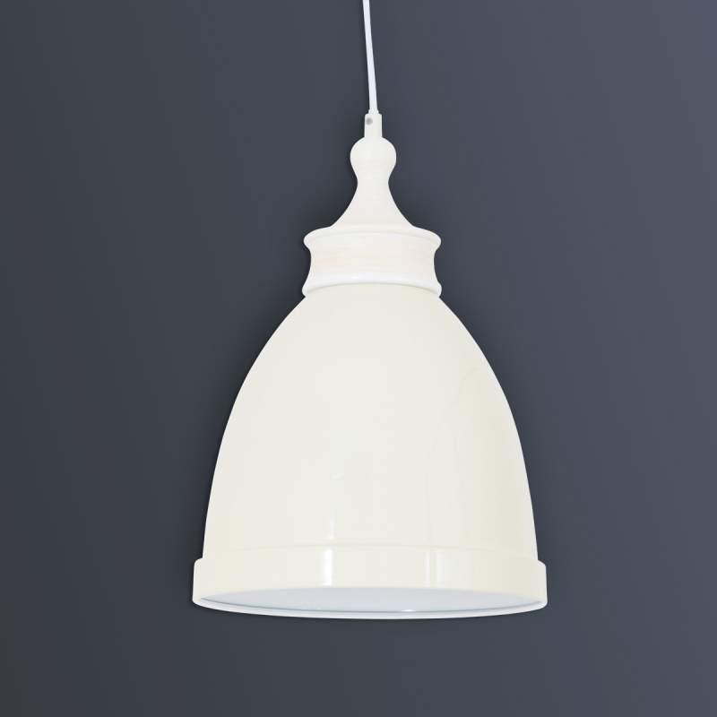 Witte metalen hanglamp Hevin