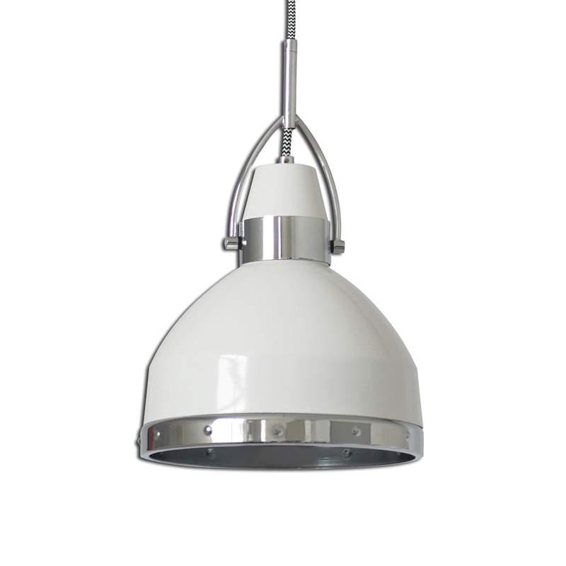 Witte hanglamp Britta in industrial design