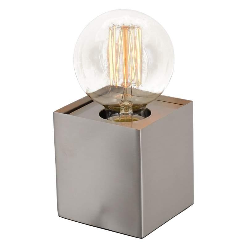 Quadro - minimalistische tafellamp, blank staal