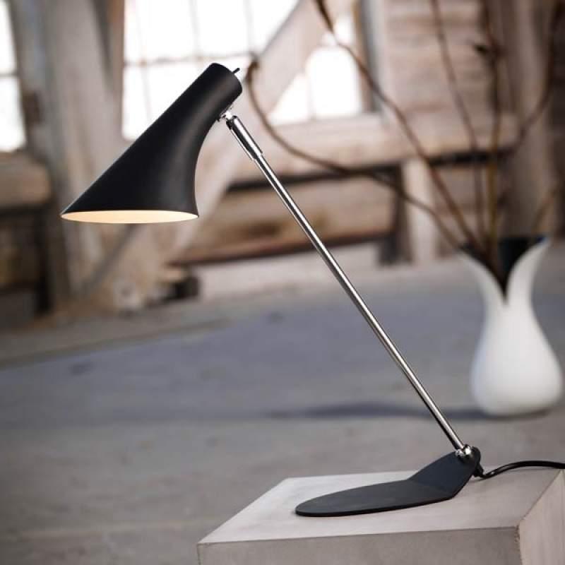 Trendy bureaulamp Liam zwart