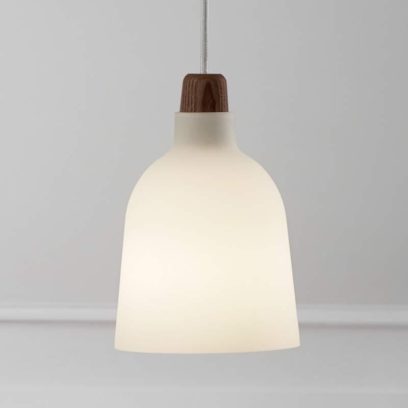 Glazen hanglamp Karma, opaal