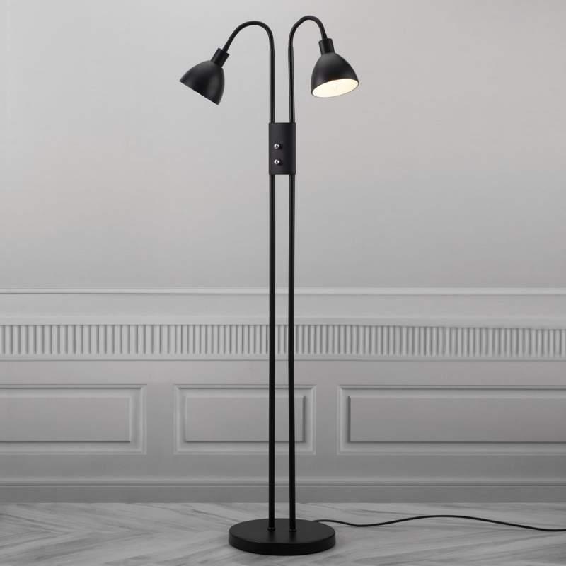 Gescheiden schakelbare staande lamp Ray - met dim.