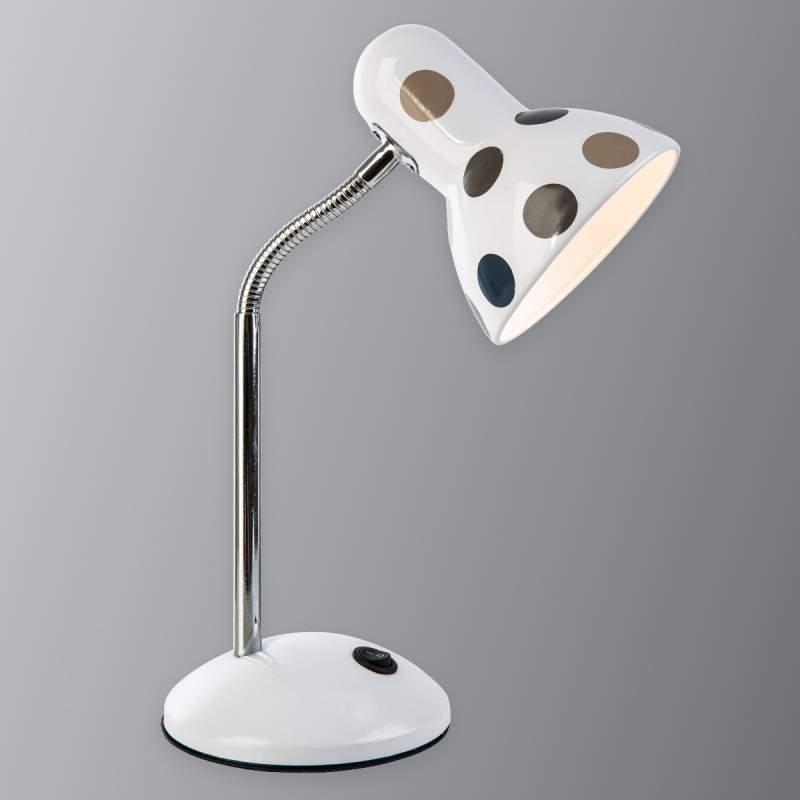 Grijs en bruin gepunte tafellamp Pointer