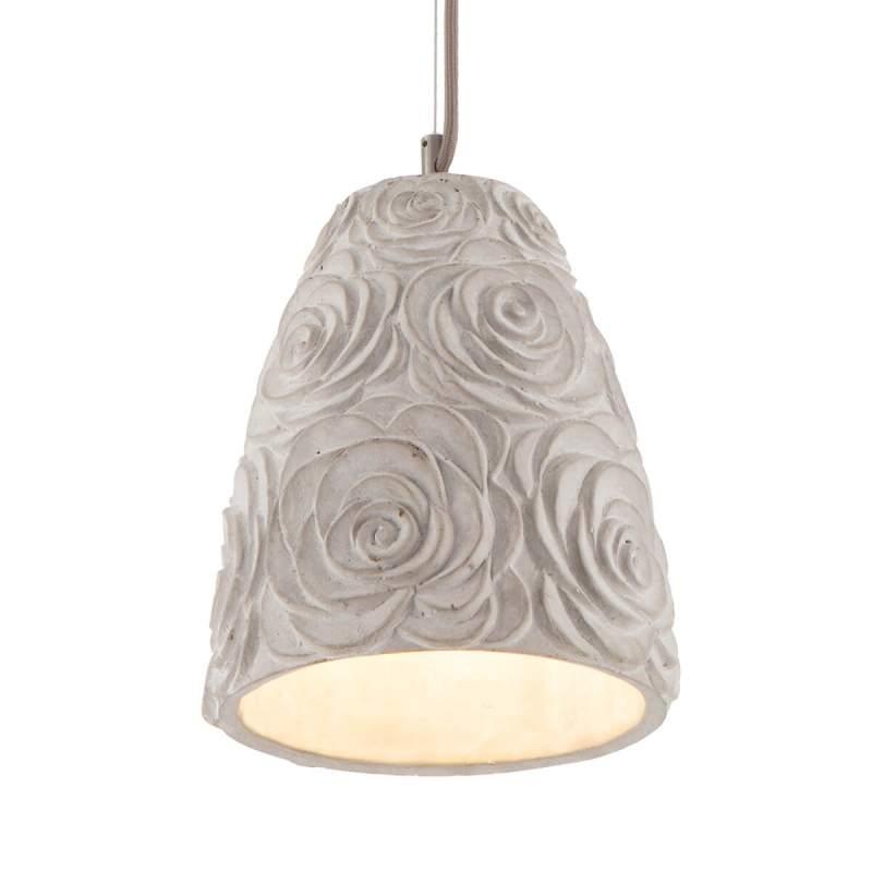 Bloemig ontworpen hanglamp Florence, beton-design