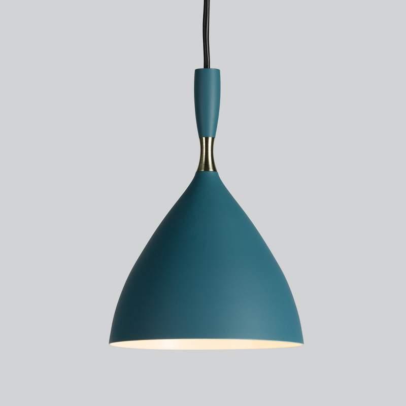 Petrol gekleurde Retro-Hanglamp Dokka