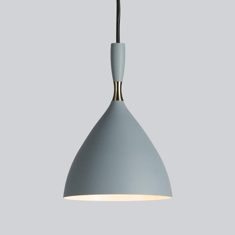 Lichtgrijze Hanglamp Dokka van staal