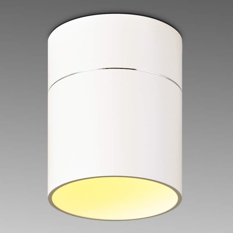 Eenvoudige LED plafondlamp Tudor M 13,9 cm mat wit
