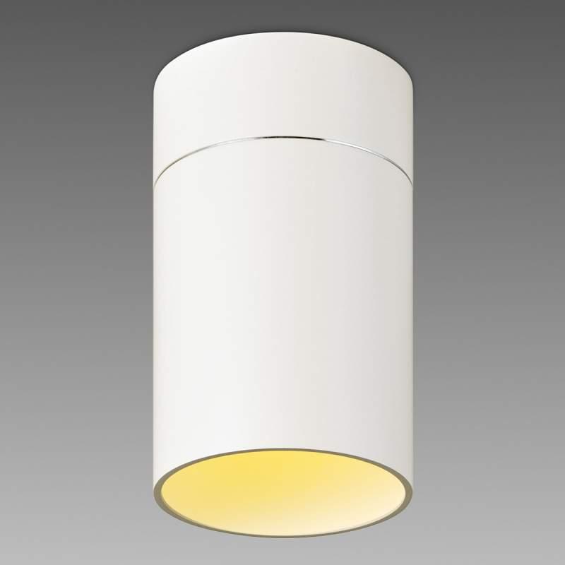 Ronde LED plafondlamp Tudor L 18,5 cm mat wit