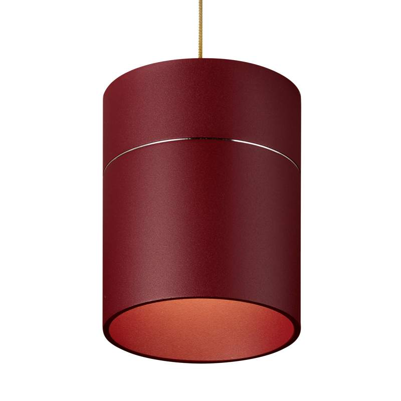 Hanglamp Tudor M 13,9 cm kaphoogte mat rood