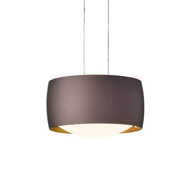 In hoogte verstelbare LED hanglamp Grace in bruin