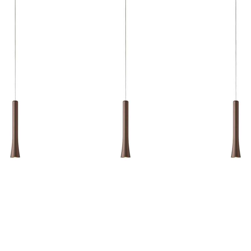 Variabele LED hanglamp Rio in trendy bruine tint