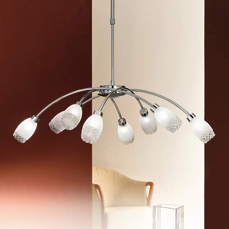Indrukwekkende hanglamp MARISA, 8-lichts