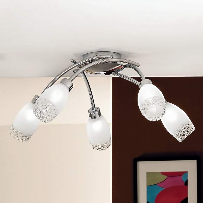Indrukwekkende plafondlamp MARISA, 5-lichts