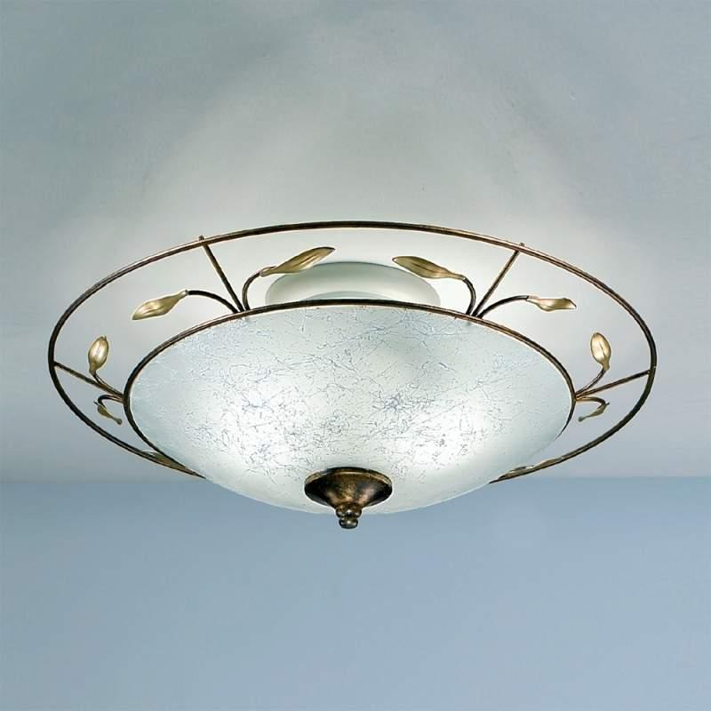 Plafondlamp REGINE met scavo-glas