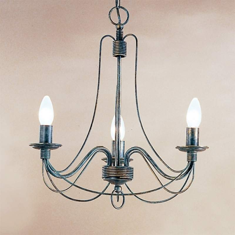 3-lichts hanglamp CLARA in landhuisstijl