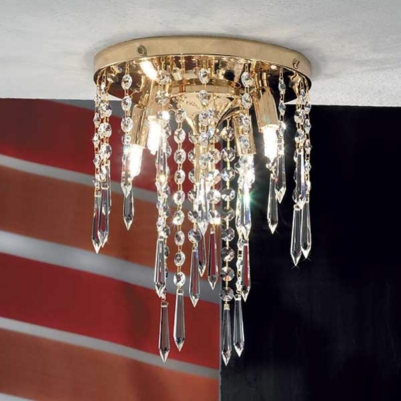 Plafondlamp PHOEBE 5-lichts, verguld