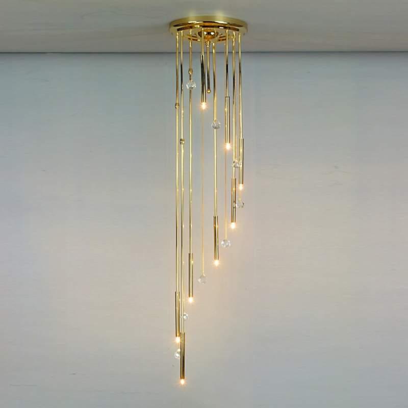 Plafondlamp SPIRALE 8-lichts, goud
