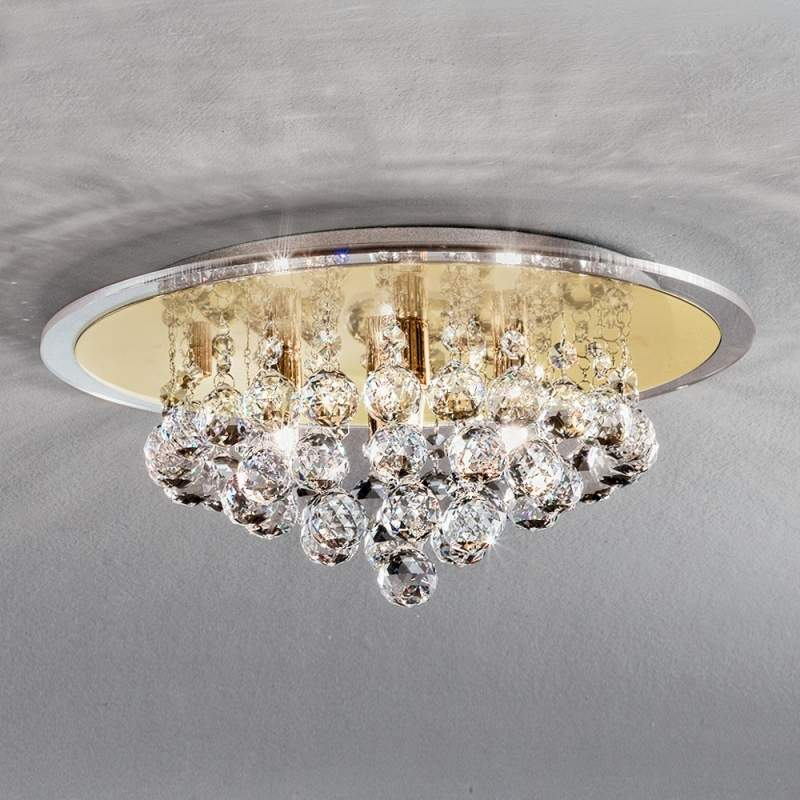 Expressieve kristal-plafondlamp TUILA, 38 cm