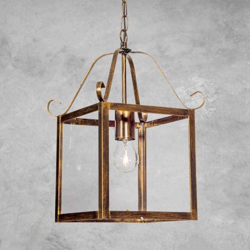 Prachtige hanglamp FALOTTA, rechthoekig, 1-l.