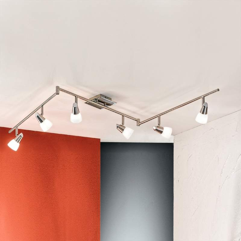 Flexibele plafondlamp MIRTEL - 6-lichts