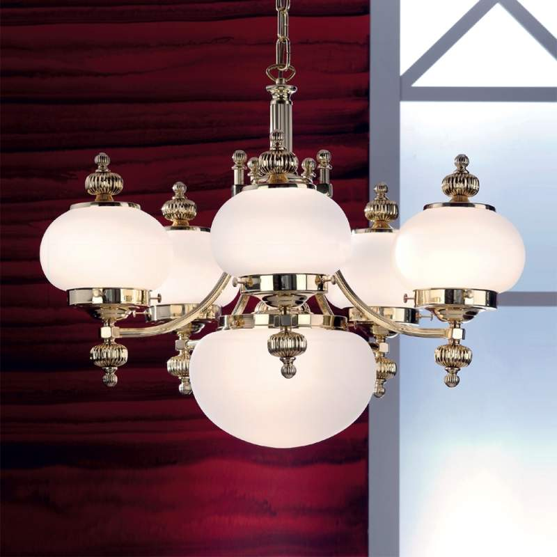 DELIA - stijlvolle kroonluchter, 6-lichts