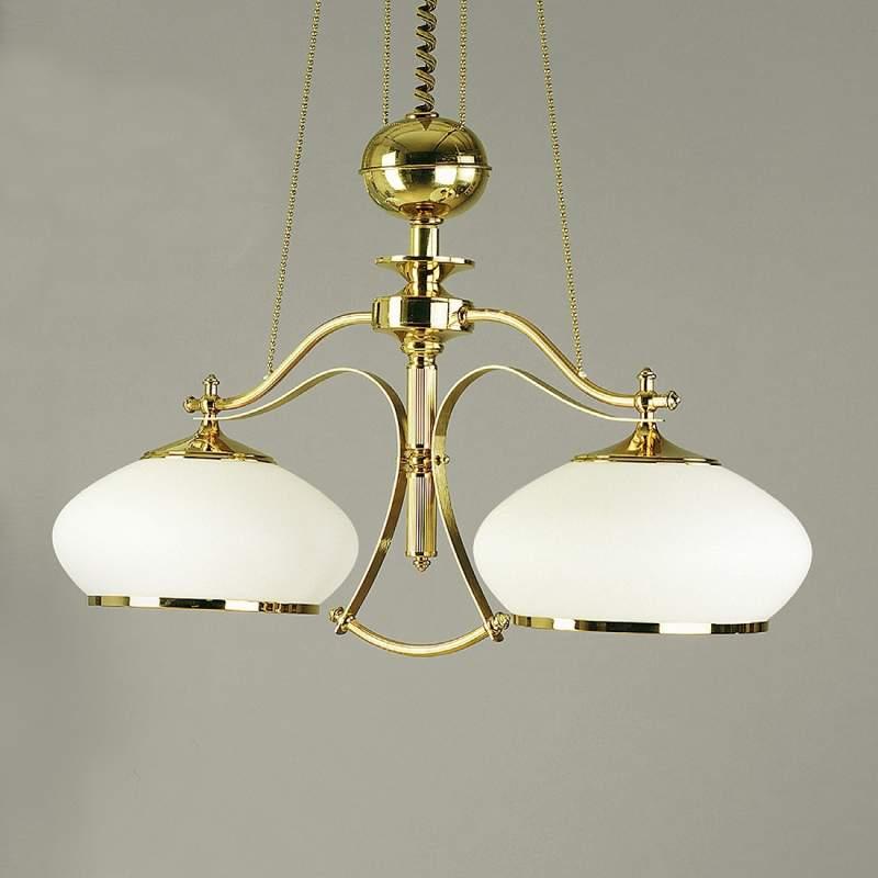 Goudglanzende hanglamp EMPIRA, 2-lichts