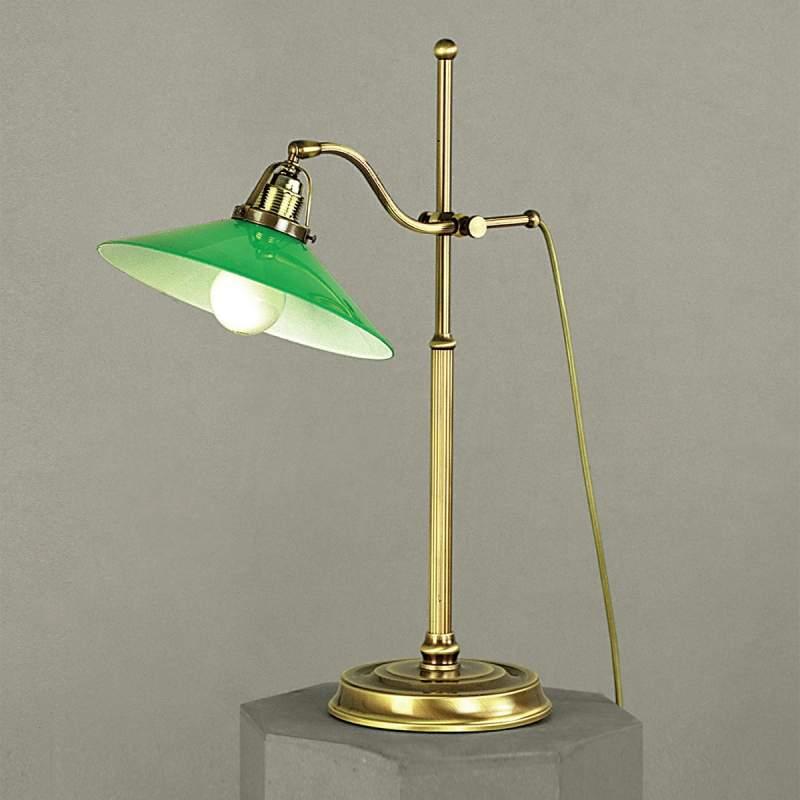 Groene tafellamp VERDINA, patina-look