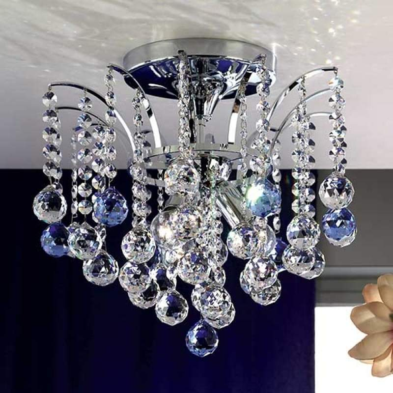 Fonkelende kristallen plafondlamp LENNARDA, 42 cm