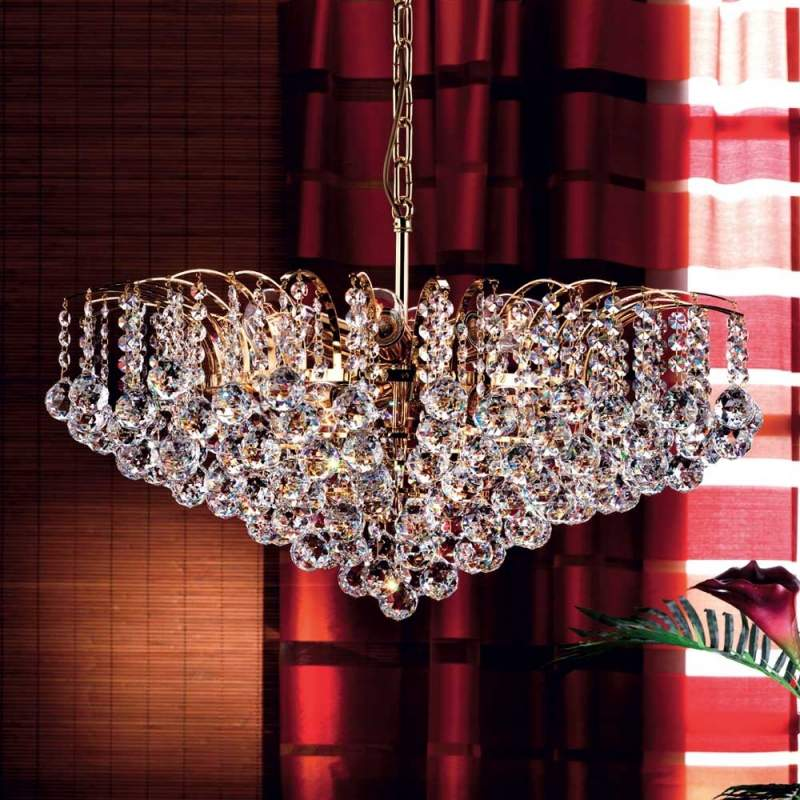 Luxueuze kristallen hanglamp LENNARDA