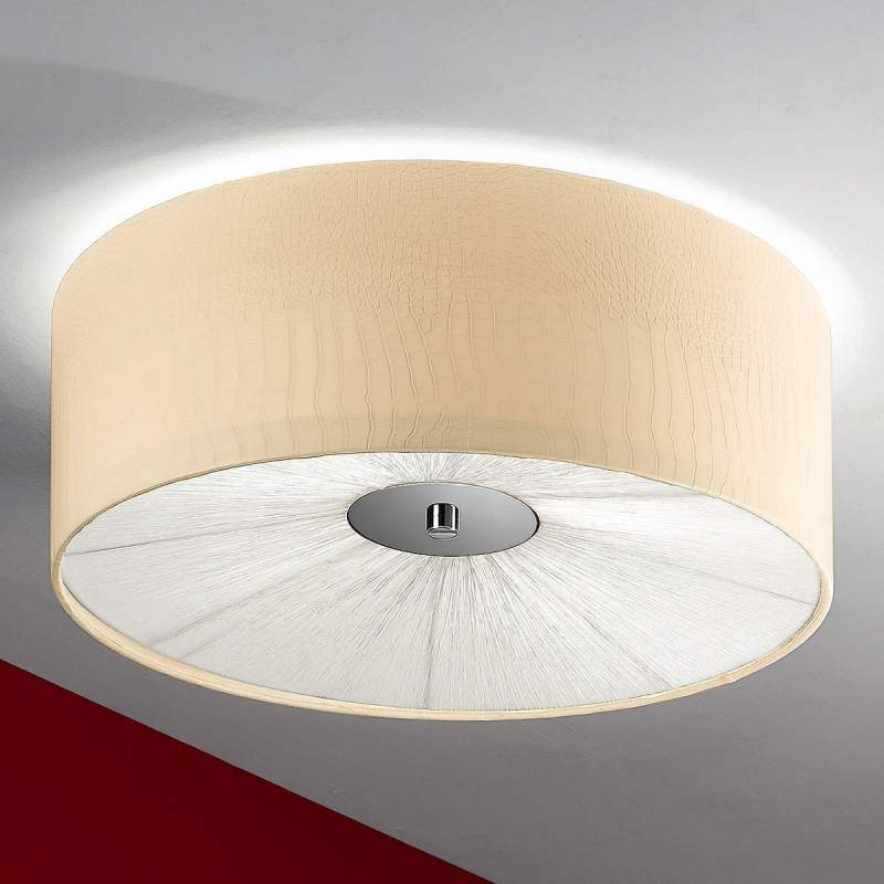 Ivoorkleurige plafondlamp BENJA