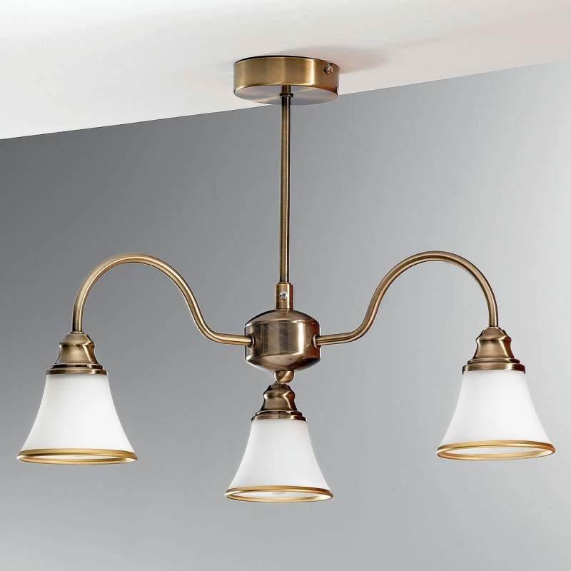 TILDA - 3-lichts plafondlamp, oudmessing-look