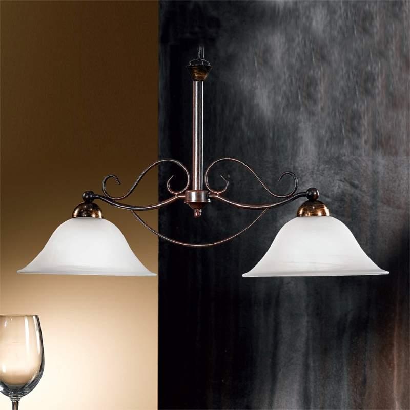 Tweelichts hanglamp JONTE