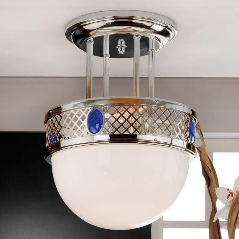 Jugendstil-flair - plafondlamp ALT WIEN, nikkel
