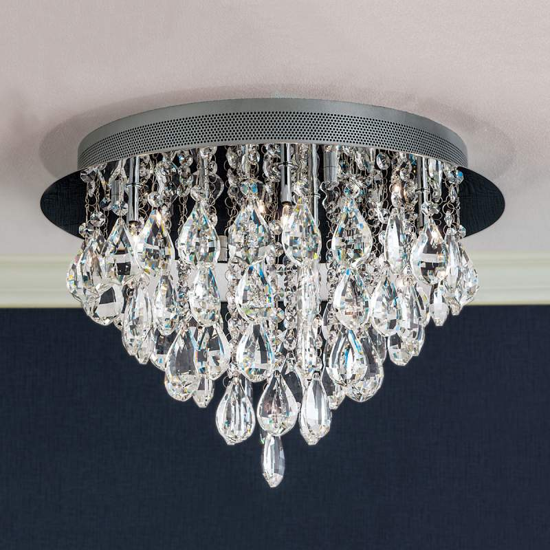 HELENE - plafondlamp met loodkristal, 45 cm