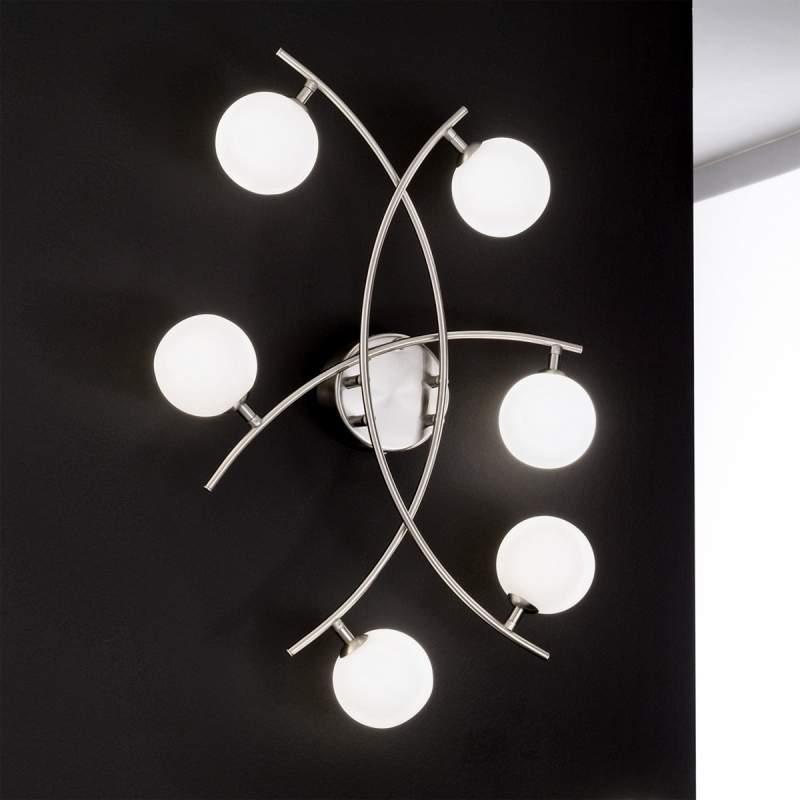 Buitengewone plafondlamp Pelota, 6-lichts