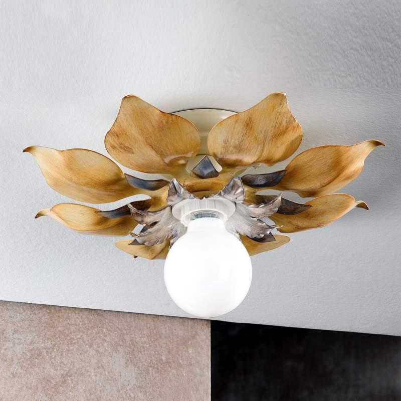 Florentijnse plafondlamp Blossom, ivoor