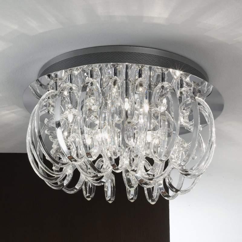 Artistieke glazen plafondlamp Farina