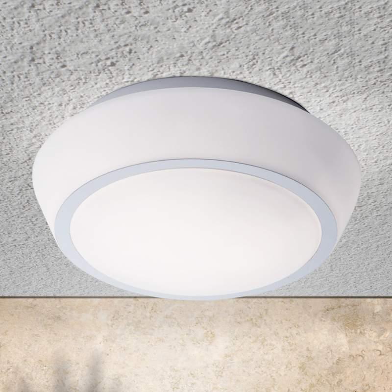 Glazen plafondlamp Pia met IP44, 30 cm