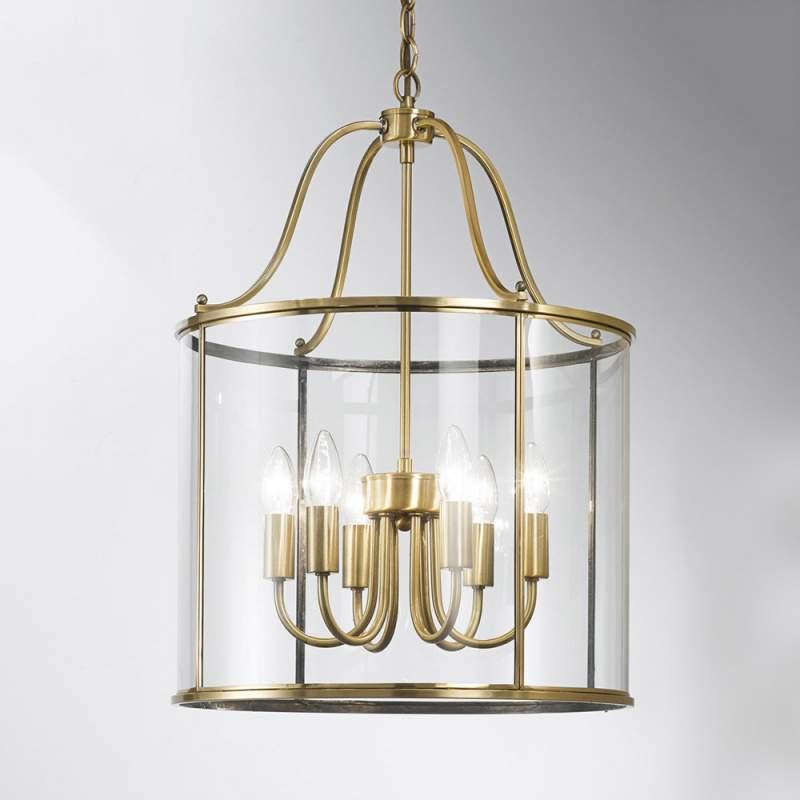 Hanglamp Rieka, ronde lantaarnvorm, 43 cm