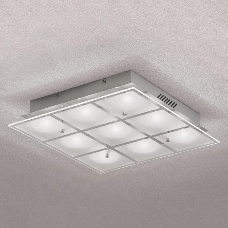 9-lichts LED-plafondlamp Florien