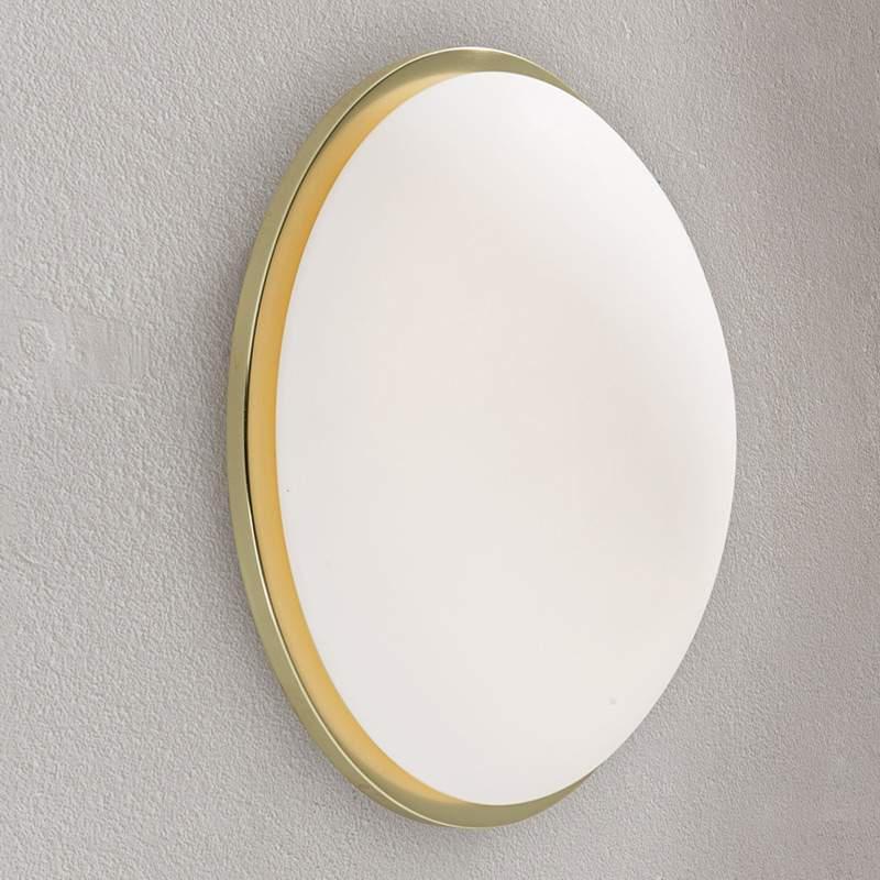 Ronde LED-wandlamp Eleni, 37 cm, messing