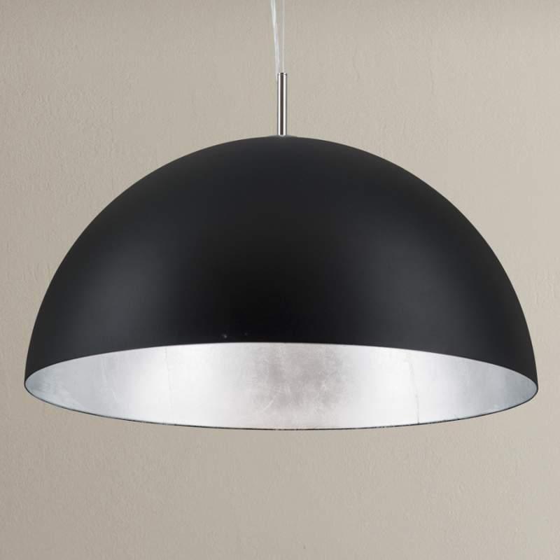 Zwart-zilveren hanglamp Nerry