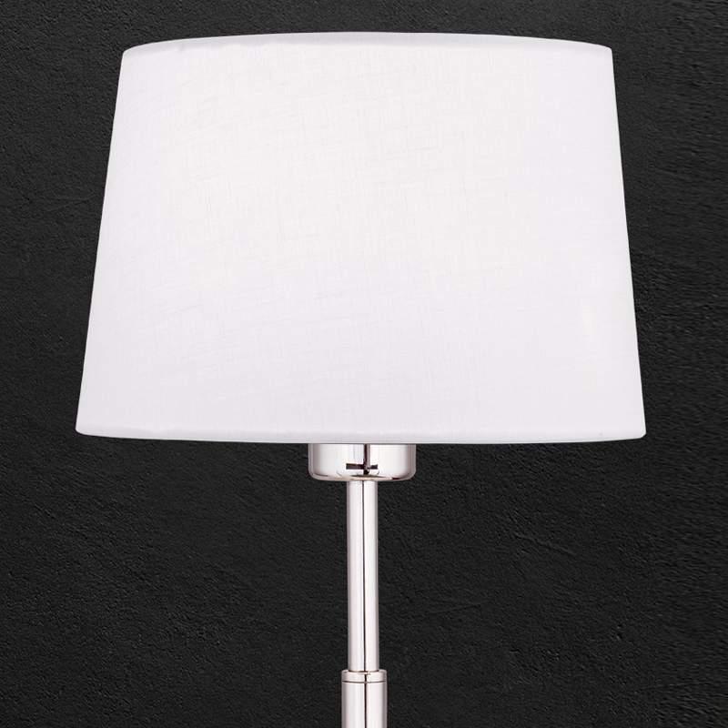 Textiel tafellamp Vardan met wit scherm