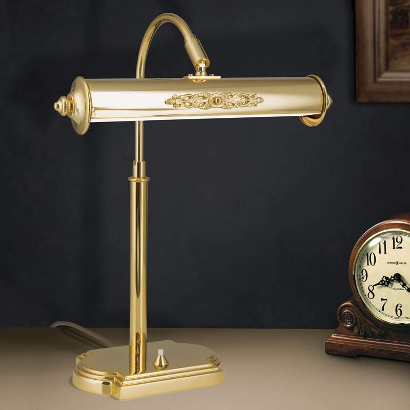 Nostalgische tafellamp Picture, verguld