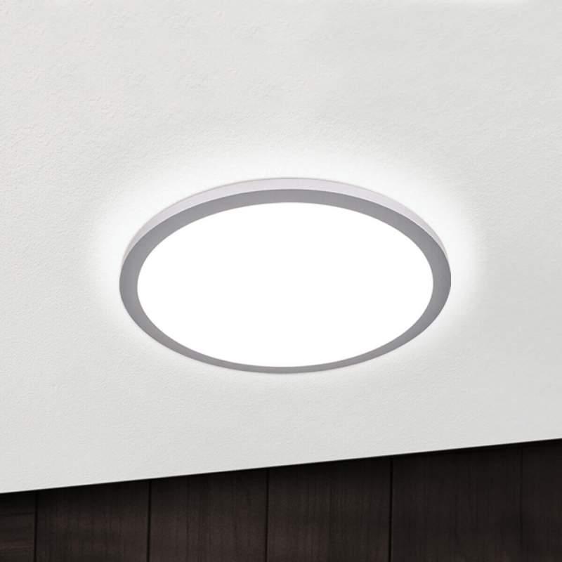 Titanium kleurige LED plafondlamp Aria, dimbaar