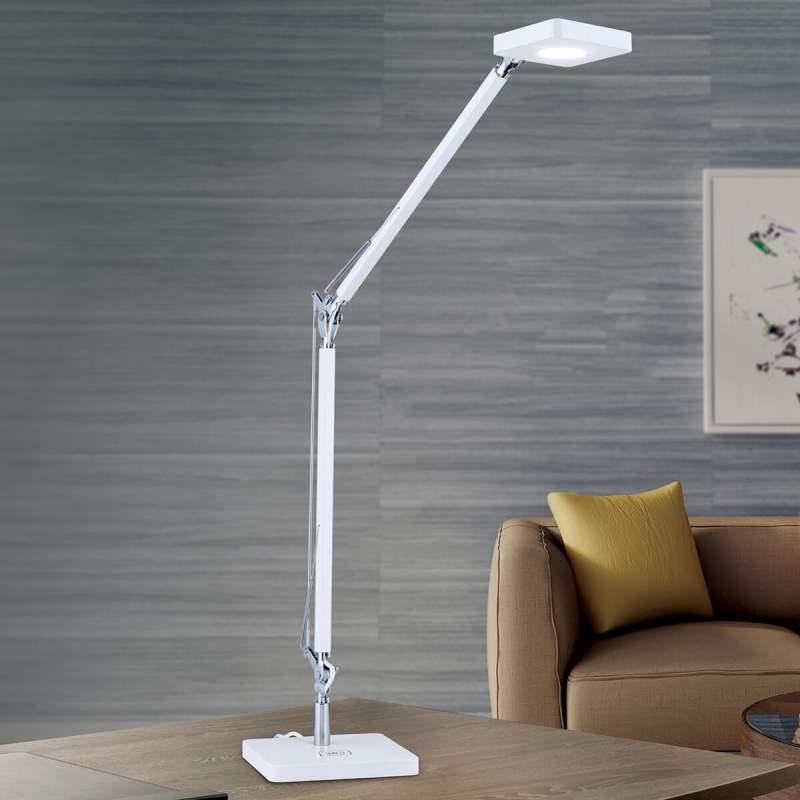 QI compatibel LED bureaulamp Dave in wit