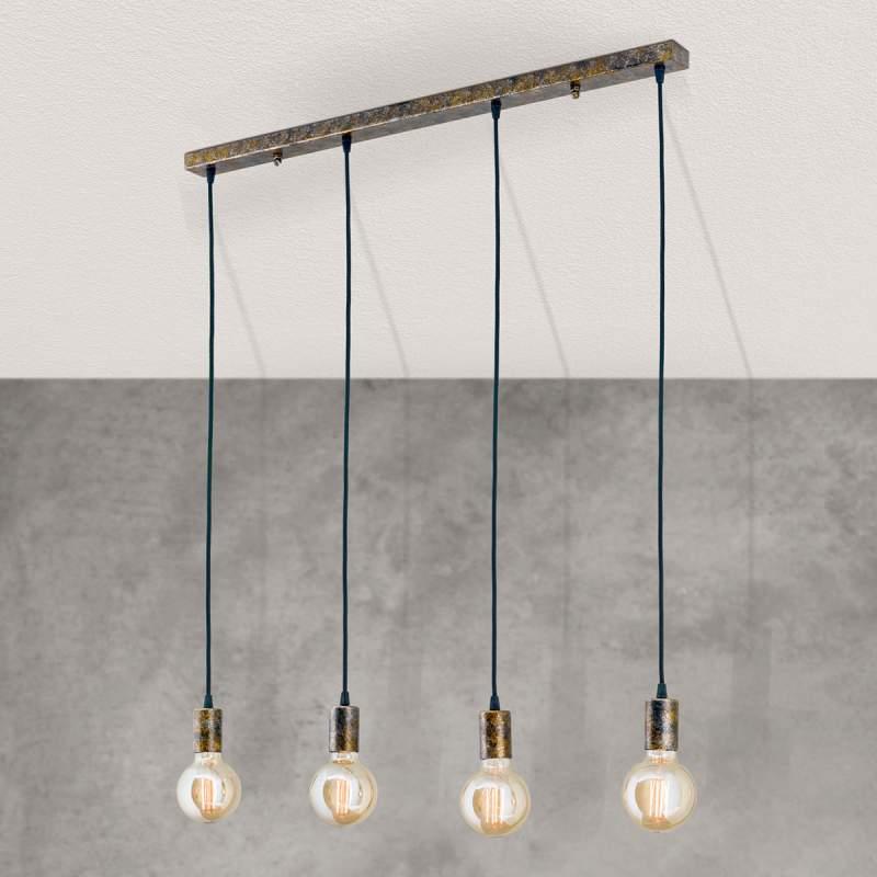 Vintage wandlamp Rati, 4 lampen